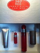 Men's Perry Ellis 360 Red Cologne Gift Set NEW NIB in Aurora, Illinois