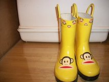#6444 CHILDREN'S SOCK MONKEY RAIN BOOTS SIZE 9-10 in Fort Hood, Texas