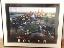 Framed artwork of Boston Fenway Park in Naperville, Illinois